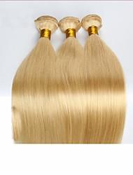 3pcs 7a eau de Javel blond 613 extension de cheveux vierge vingin malaisien cheveux raides cheveux malaysianhuman faisceaux de Hair Weave
