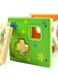 Colorful Direct Environmental Intelligence Box Shape Matching Building Blocks Wooden Educational Toys Infant Toys