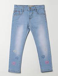 Girl's Casual/Daily Jacquard Pants,Cotton Fall Blue