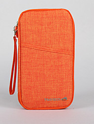 Для женщин Лён На каждый день Визитница / бумажник Фиолетовый / Зеленый / Оранжевый / Красный / Серый