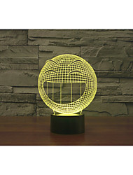 Pattern Q Smiling Face 3 D Lamp Colorful Touch LED Vision Lamp Gift Atmosphere Desk Lamp Color-Changing Night Light