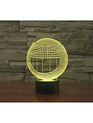 q Motif souriant d lampe face 3 touche colorée lampe LED cadeau lampe de bureau de l'atmosphère de vision couleur changeante lumière de