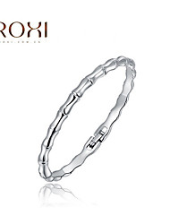 Silver Bangle Bracelet 1pc,Fashion Bamboo Shape Bangles Best Friend Gift for Men,Women,Couples