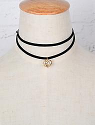 Women's Choker Necklaces Pendant Necklaces Rhinestone Zircon Cubic Zirconia Rhinestone JewelryDangling Style Rhinestone Double-layer