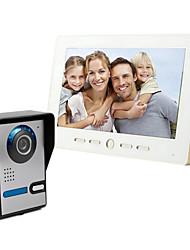 10-дюймовый большой экран 700 HD видео домофон дверной звонок на линии
