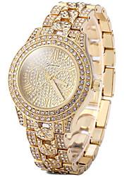 Damen Kleideruhr Modeuhr Armbanduhren für den Alltag Pavé-Uhr Quartz Armbanduhren für den Alltag Imitation Diamant Rose Gold überzogen