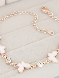 Women's European Style Fashion Sweet Shiny Rhinestone Exquisite Butterfly Bracelet