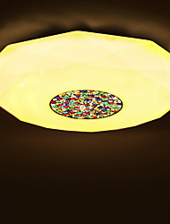 BOXIMIYA Contemporary And Contracted  Study Bedroom Three Color Changing Light LED Dome Light 44 Cm in Diameter