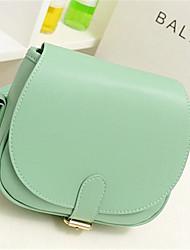 Women-Outdoor-PU-Shoulder Bag-Green