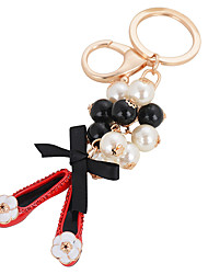 Pearl Shoe Bag Ornaments Car Key Ring Pendant Female Fashion
