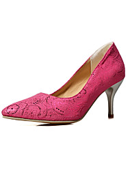 Women's Shoes PU Summer/ Pointed Toe Heels Office & Career / Casual Cone Heel Others Blue / Fuchsia / Beige