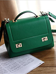 Women PU Formal Tote Green