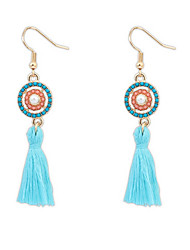 Fashion Target Fabric Tassel Earrings