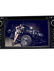 6.2-pulgadas de pantalla tft jugador 2 din en el tablero de DVD del coche para toyota con bluetooth, gps-navegación listo, rds