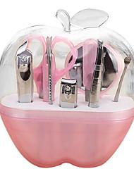 маникюр 9 шт прозрачная оболочка инструмент резец ногтя комплект красоты макияж инструмент путешествия маникюрный набор
