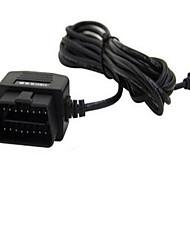 OBD de 16 pines a la mini línea de carga de conversión USB Encienda 16 pin mini USB de 4 metros de la línea de derivación obd presionando