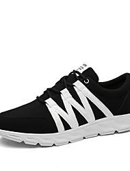 Extérieure / Décontracté / Sport-Noir / Gris / Noir et blanc-Talon Plat-Nouveauté-Sneakers-Tulle