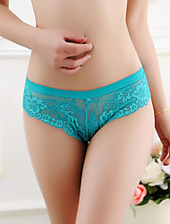 Women's Low waist lace pierced transparent thong
