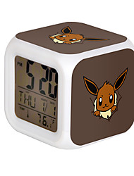 Poke Ball Colorful Flash Cartoon Alarm Clock-23#