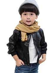 Spring/Fall Boys Coats Fashion Denim PU Leather Jackets