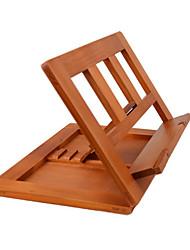 suporte ajustável de madeira para o tablet laptop ler 34 * 23,5 * 2,8 centímetros