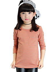 Girl's Wild Casual/Daily Striped Cotton Tee