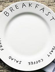 disco de cerámica simple carta