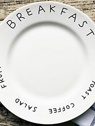 letra simples disco de cerâmica