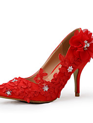 Women's Heels Silk Wedding / Dress / Party & Evening Stiletto Heel Red