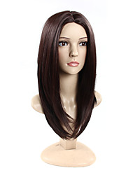 Middle Part  Long Straight Cap Synthetic Wigs For Woman