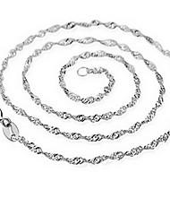 Silver chain necklace(45cm)