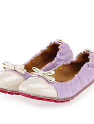Women's Shoes  Spring / Fall Ballerina / Round Toe Flats Casual Flat Heel Bowknot Pink / Purple / Fuchsia