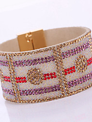 Fashion Elegant Resin Rhinestone Magnet Alloy Buckle Bracelet