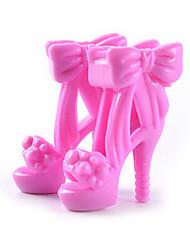 11 polegadas sapatos boneca e sapatos de salto alto jóias acessórios de moda fantasia infantil jogar vestir-se brinquedos alínea e
