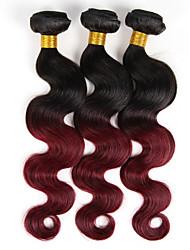 Ombre Indisches Haar Große Wellen 3 Stück Haar webt