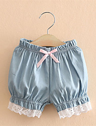 Children'S Denim Shorts Female New Children'S Clothing Girls Lace Short Pants