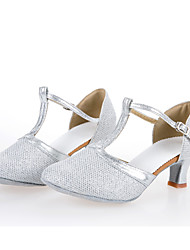 Zapatos de baile(Plata / Oro) -Latino / Zapatillas de Baile-Personalizables-Tacón Cubano