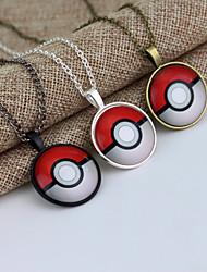 Pokemon Go Pokeball Pokemon Ball Halder Necklace Pendant (50cm)