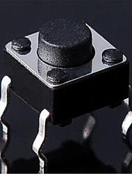6 * 6 * 17MM 4 Vertical Feet Touch Switch Micro Switch Button Switch Feet Of Copper-Line