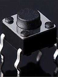 6 * 6 * 17mm 4 pieds verticaux tactiles commutateur micro interrupteur bouton interrupteur pieds de cuivre-line
