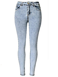 Women's Solid Skinny High Rise Slim Over Hip Jeans Pants,Street chic