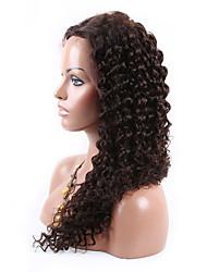 evawigs peluca instock 8-26 pulgadas peruano peluca de cabello virgen delante manera rizada peluca glueless del cordón populares