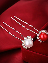 The Pearl Rhinestone Hairpin (Set Of 4)