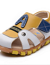 Boys' Shoes Casual Leather Sandals Summer Comfort / Round Toe Hook & Loop Black / Brown / White