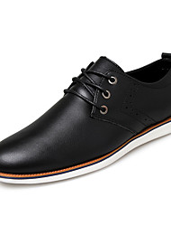 Men's Oxfords Summer Flats Leather Casual Flat Heel Gore Black / Brown / Red Walking