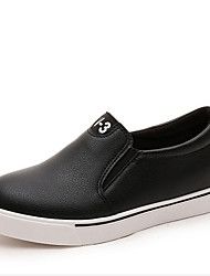 женская обувь из кожзаменителя клин пятки клинья мокасины на открытом воздухе / вскользь черный / красный / белый