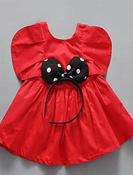 Vestido Bebé-Noche-Un Color-Algodón-Verano-Rojo