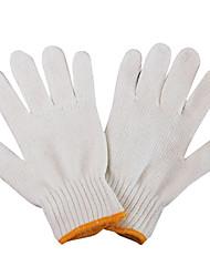 gruesos guantes especiales de seguridad, guantes de nylon blancas