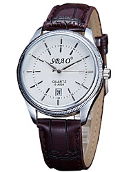 Fashion Quartz Casual Business Round Dial Calendar New Couple's Wrist Watches