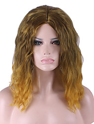 Best-selling Europe And The United States COS Wig Golden Brown Gradient Of  Loose Volume Wigs 14 Inch